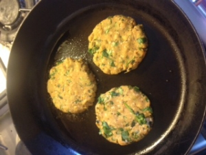 vegie pattie cook